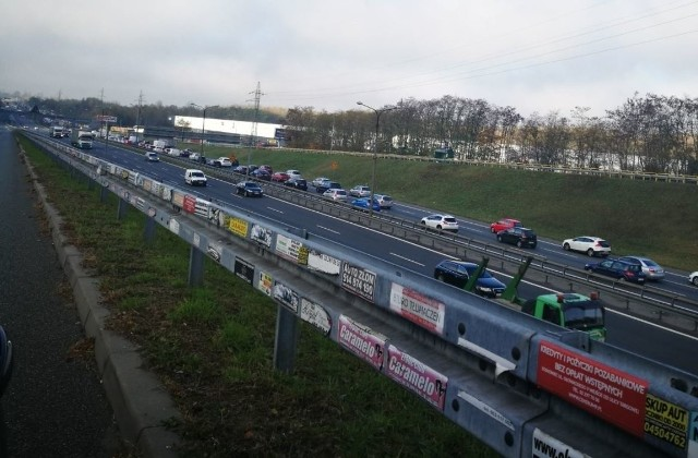 Utrudnienia na S86 w Katowicach