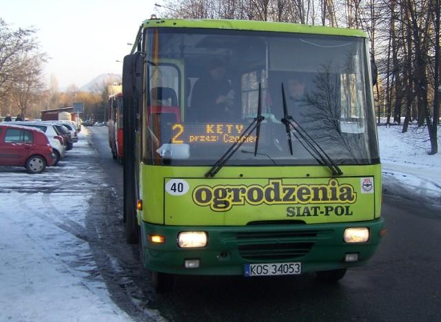 MZK Kęty jeździ 15 liniami po gminach Kęty, Andrychów i Porąbka