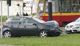 Wypadek ciężarnej na skrzyżowaniu Lutomierskiej i Mokrej [zdjęcia]