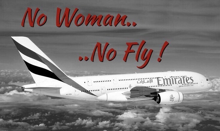 """""""No woman, no fly"""" – Tunezyjki nie mają wstępu do samolotów Emirates"""