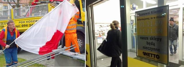 W dzień niepodległości biało-czerwoną należy wywiesić za oknem, na balkonie albo po prostu, włożyć w odpowiedni uchwyt zamontowany na elewacji. Warto we wtorek pamiętać o pilnych zakupach spożywczych, gdyż w środę niczego nie załatwimy.