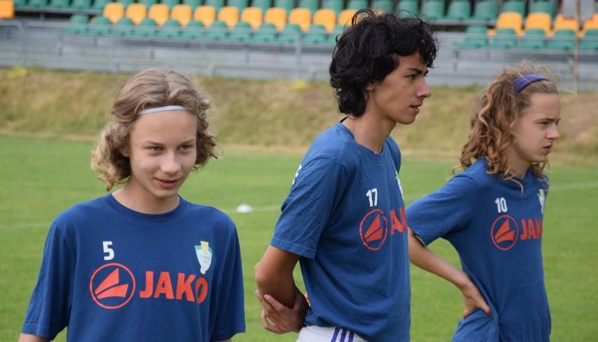 Piłkarze TS Przylep (na zdjęciu Jakub Bigos, Oliwier...