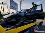 Wypadek na DK45 w Ligocie Górnej. Kierowca zasnął [zdjęcia]