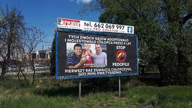Baner przy ul. Prószkowskiej w Opolu