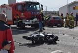 Wypadek w Żydowie - osobówka zderzyła się z motocyklem