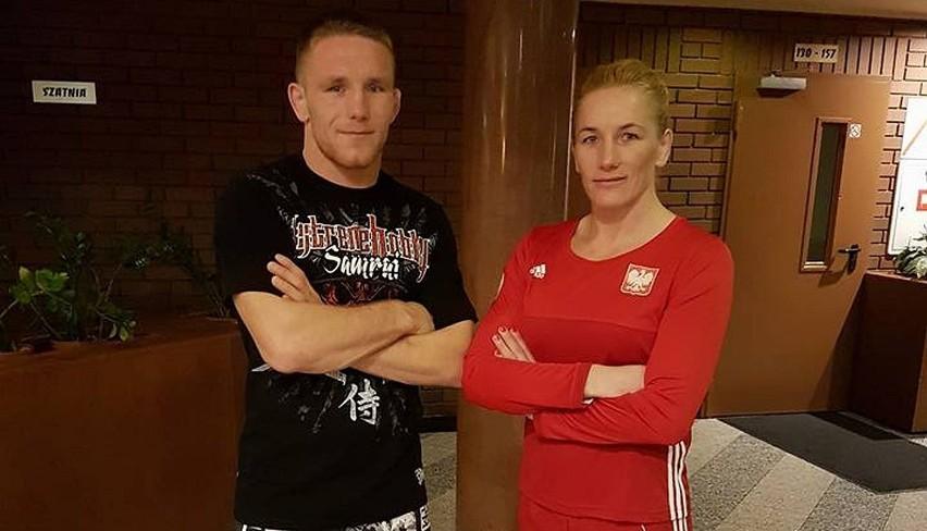 Monika i jej brat Tadeusz przed zawodami w Zgierzu.