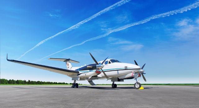 Beechcraft King Air 350i - najnowszy nabytek floty Pronaru. Na pokładzie może znaleźć się 9 pasażerów.