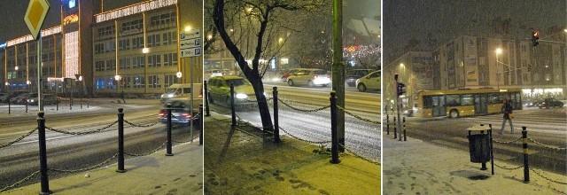 Obfite opady śniegu mocno utrudniły poruszania się po mieście kierowcom