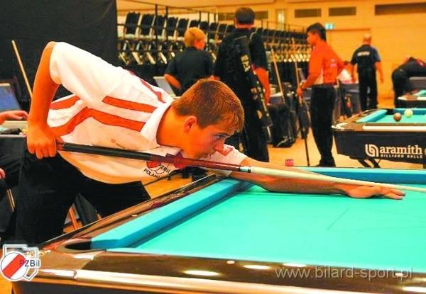 Konrad Piekarski - czołowy zawodnik LP Pool Bilard Sokółka