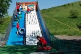 Wielki finał Tygodnia Dziecka na Górce Środulskiej w Dzień Dziecka w Sosnowcu na wodnej zjeżdżalni