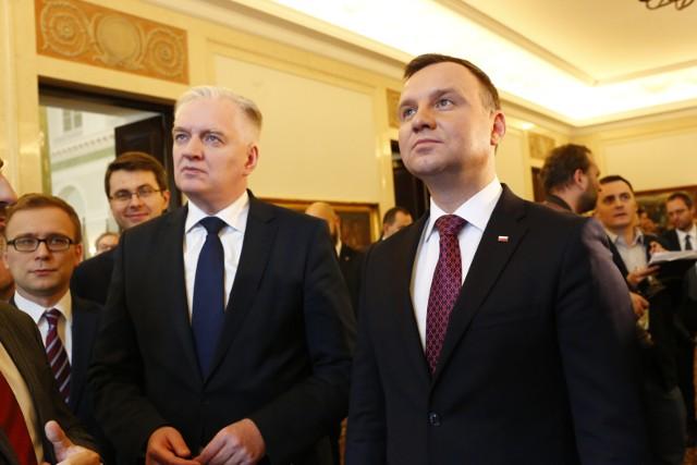 Prezydent wręczył Jarosławowi Gowinowi odwołanie i publicznie odmówił spotkania