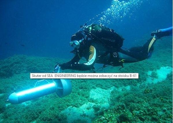 Skuter od SEA ENGINEERING będzie można zobaczyć na stoisku B-61