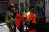 Poważny wypadek na przejściu dla pieszych przy ul. Parkowej w Grudziądzu. Nastolatek z urazem głowy w szpitalu
