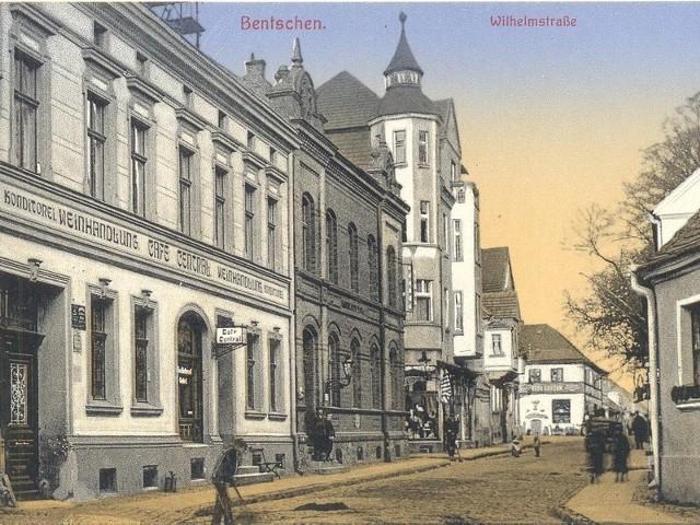 Zbąszyń: Ulica Wilhelmstrasse przed pierwszą wojną