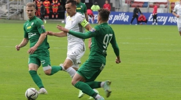 Fragment meczu, Górnik - Radomiak.