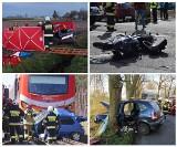 Wypadki drogowe na terenie województwa wielkopolskiego w kwietniu 2021. ZOBACZ ZDJĘCIA