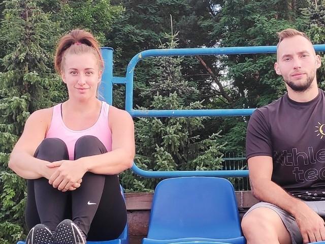 Reprezentanci AZS UMCS Lublin młociarka Malwina Kopron oraz oszczepnik Mateusz Kwaśniewski