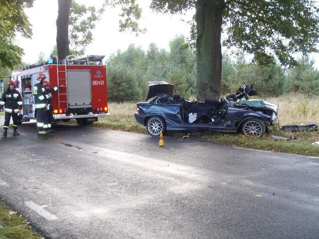 Kierowca BMW zginął na miejscu
