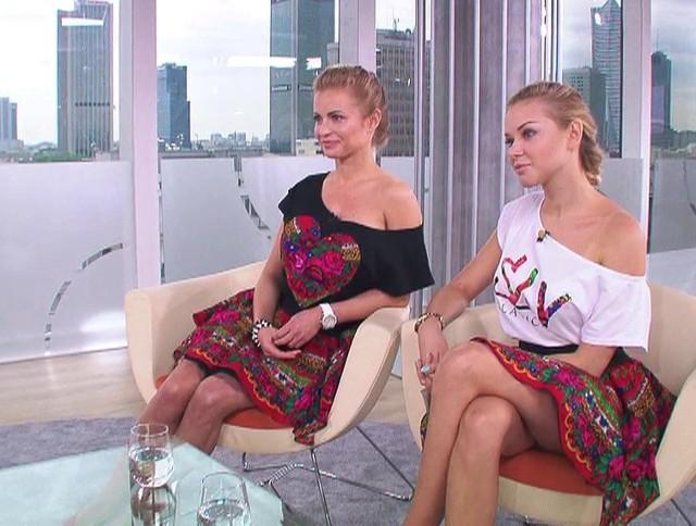 """Paula Tumala i Aleksandra Ciupa w studiu """"Dzień Dobry TVN""""."""