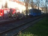 Wrocław: Wypadek na Ślężnej. Auta na torowisku. Były utrudnienia w ruchu tramwajów (ZOBACZ)