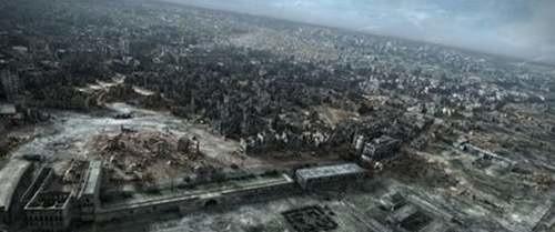 """""""Miasto ruin"""" - kadr z filmu."""