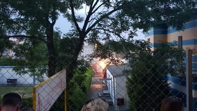 Pożar na stadionie Stali Gorzów