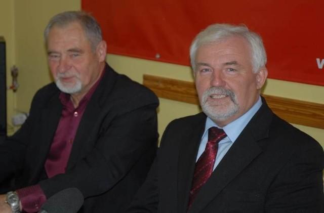 Ryszard Zbrzyzny spotkał się z dziennikarzami w głogowskiej siedzibie Sojuszu Lewicy Demokratycznej