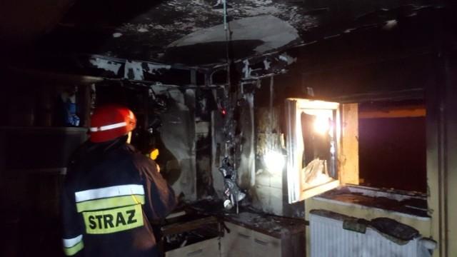 Pożar domku letniskowego w Mikoszewie