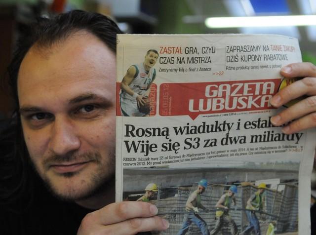 """Szymon Kozica, dziennikarz """"Gazety Lubuskiej"""""""