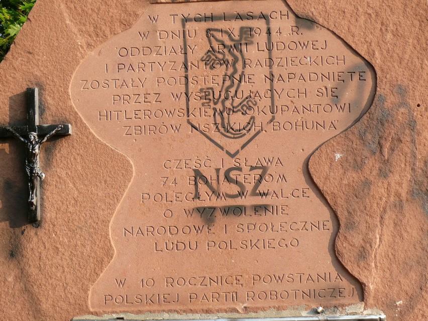 Zniszczony kontrowersyjny pomnik w Rząbcu
