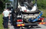 Przeładowane betoniarki niszczą krakowskie ulice. Akcja ITD