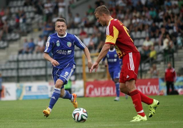 Łukasz Garguła w swoim ligowym debiucie w barwach Miedzi zaliczył dwie asysty