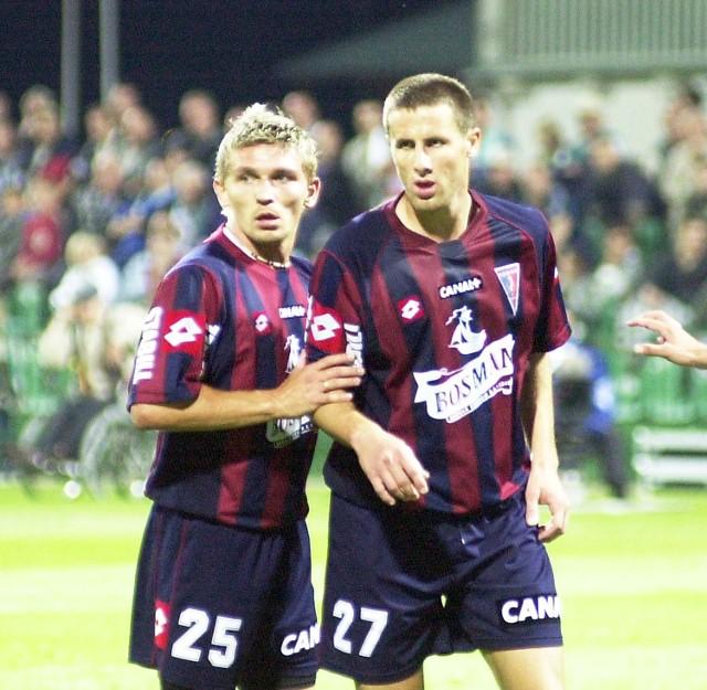 Krzysztof Michalski (z lewej) i Mariusz Masternak tym razem wystąpili od pierwszego gwizdka. Michalski strzelił nawet gola.