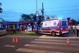 Wypadek na Zakładowej w Łodzi. Zderzenie samochodu osobowego i tramwaju [ZDJĘCIA]