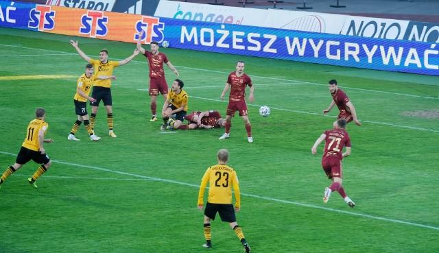 Chojniczanka Chojnice przegrała 0:3 z GKS-em Katowice i nie ma praktycznie szans na bezpośredni awans do 1 Ligi