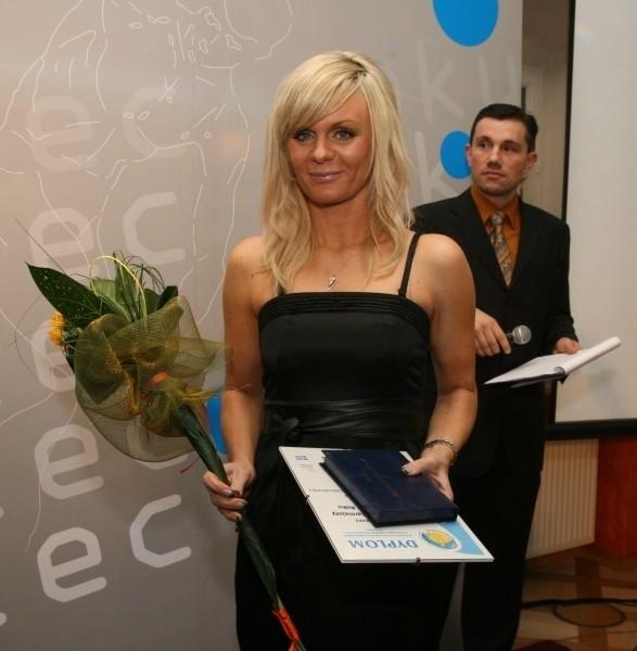 Anna Łukanowa-Jakubowska jak zwykle z uśmiechem na twarzy.