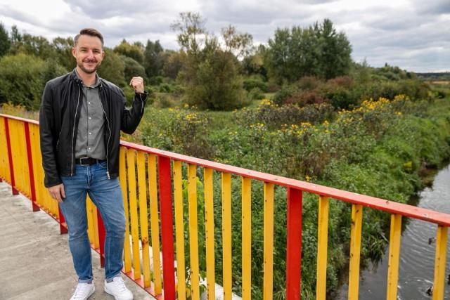 Maciej Dąbrowski chce, aby nad rzeką Białą przy ul. Hugo Kołłątaja powstał rekreacyjny park. Projekt zgłosił do Budżetu Obywatelskiego 2022.