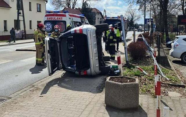 Wypadek przy ulicy Wrocławskiej w Bielanach Wrocławskich