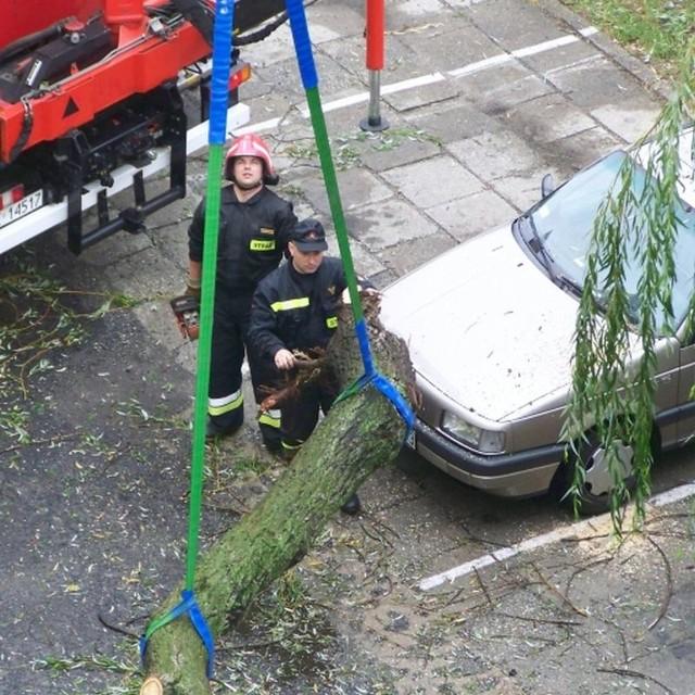 Powalone drzewa, podtopione domy - to efekt nawalnicy, która przeszla nad Kedzierzynem-KoLlem. Zdjecia na nto24 przyslala internautka Sylwia.