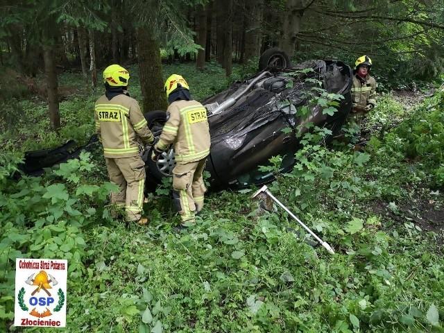 Do wypadku doszło na odcinku pomiędzy Złocieńcem a Połczynem.