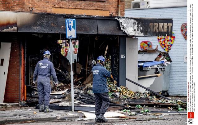 Zniszczony sklep w Aalsmeer
