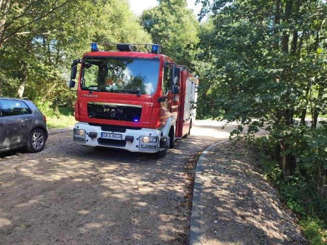 Poszukiwania strażacy rozpoczęli w Otominie. Ciało znaleźli w pobliżu Żukowa
