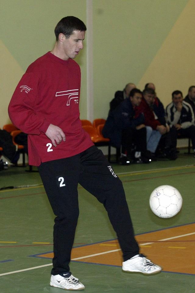 W styczniu Pogoń czeka udział w turniejach halowych w Niemczech i Polsce. Mariusz Masternak (na zdjęciu) już trenuje piłkę halową.