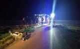 Wypadek w Jeżowie w gminie Sędziszów. Zderzenie dwóch motocykli, dwie osoby ranne [ZDJĘCIA]