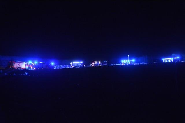 W nocy Wituni doszczętnie spłonął samochód ciężarowy
