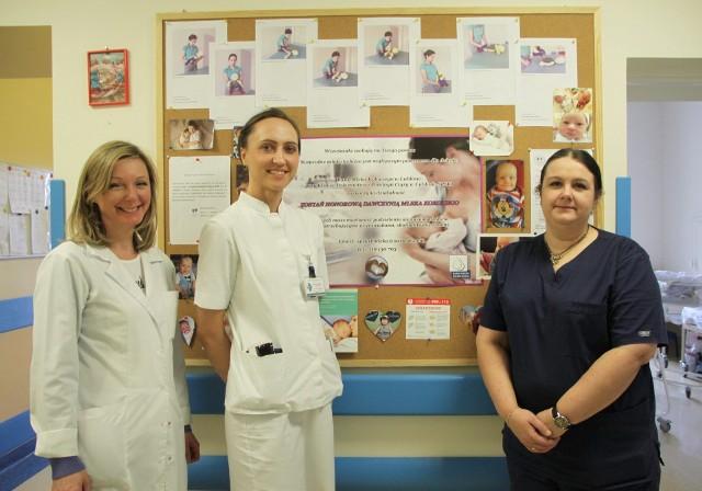 Twórczynie banku ze szpitala przy ul. Staszica: (od lewej) Dorota Rutkowska-Berdak, dr n. med. Monika Wójtowicz-Marzec, Justyna Domosud