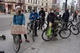 Łódź. Z pasażu Schillera wyruszył rowerowy strajk kobiet