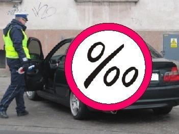 65-latek miał  ponad dwa promile alkoholu w organiźmie i kierował autem.