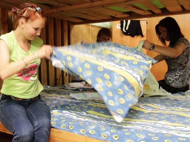 Helenie, Ani i Julii bardzo podoba się w Polsce.  Choć dziewczyny przyznają, że trochę obawiają się obozu.
