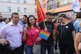 Łódź wolna od nienawiści - zgromadzenie na Piotrkowskiej pod Magdą